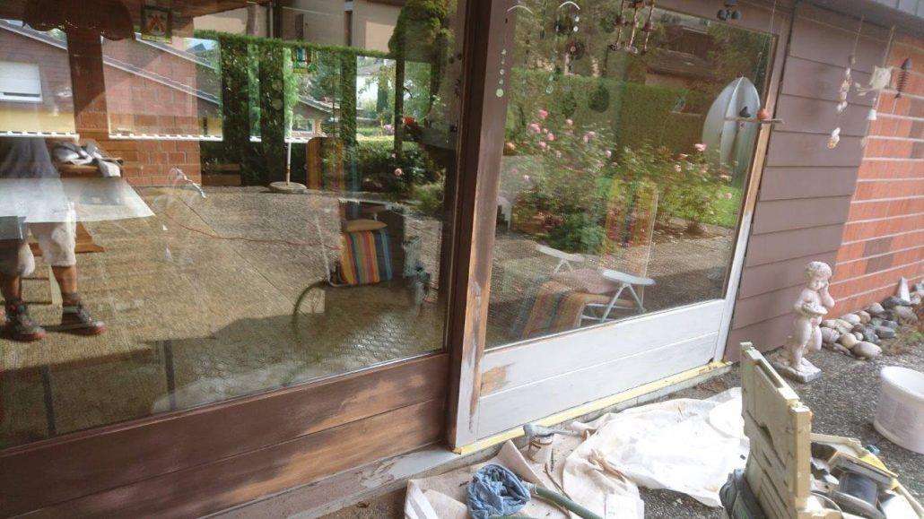 Renovation Schiebetüre Gartenhaus